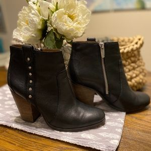 Coach Black Leather Ankle Boots